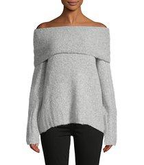 off-the-shoulder alpaca-blend sweater