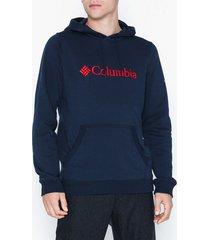 columbia basic logo hoodie tröjor navy
