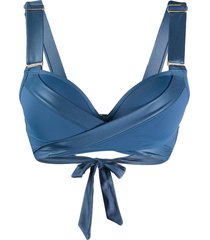marlies dekkers surplice push-up bikini top - blue