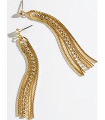 addilyn cupchain linear earrings - gold