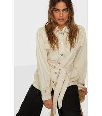 selected femme slfmay jade white denim jacket w jeansjackor