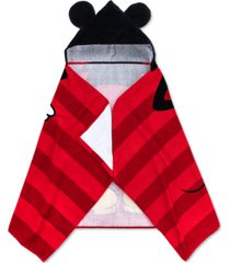 disney mickey mouse cotton stripe hooded towel bedding
