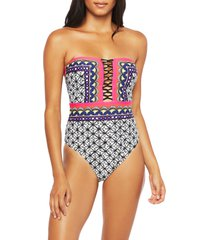 women's trina turk tanzania bandeau one-piece swimsuit