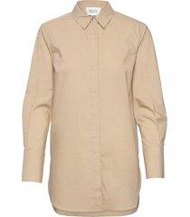 larkin ls classic shirt overhemd met lange mouwen beige second female