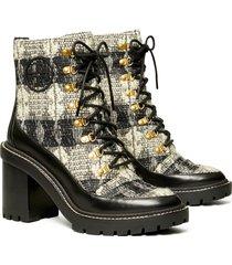 women's tory burch miller lug sole bootie, size 6.5 m - black