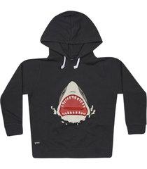 yporque shark print hoodie