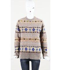 "wool knit ""fairisle"" sweater"