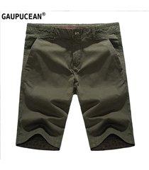 pantalones cortos casual gaupucean para hombre-verde