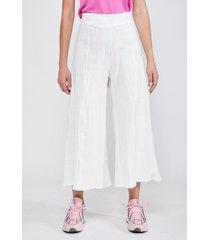 pantalón maxi culotte lino crudo mujer sioux