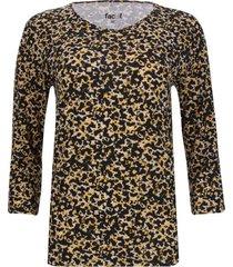 camiseta estampada manga 3/4 color amarillo, talla m