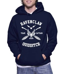 captain - new ravenclaw quidditch team captain w ink unisex pullover hoodie navy
