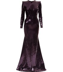 alex perry felix evening dress - purple