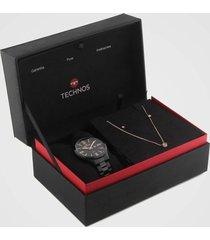 relógio technos 2015ccq/k4p preto