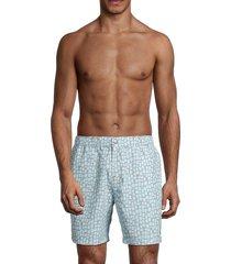 tom & teddy men's printed swim shorts - steel - size xl