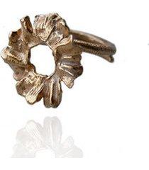 pierścionek złoty rumianki