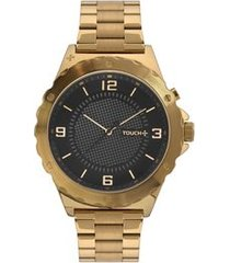 relógio touch unissex dourado tw2039ksu/4p tw2039ksu/4p