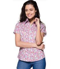 camisa intens floral rosa