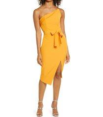 women's lavish alice one-shoulder asymmetrical sheath dress