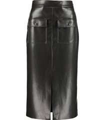 msgm faux leather midi skirt