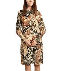 sète long sleeves printed dress