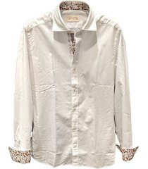 contrasting poplin shirt