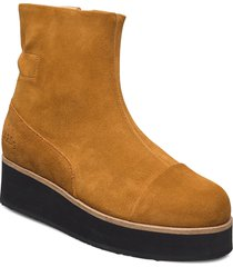 425g elasto pumpkin suede shoes boots ankle boots ankle boot - flat brun gram