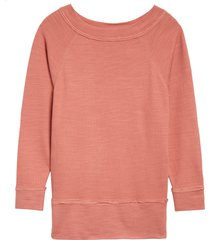 women's caslon dolman sleeve cotton blend pullover, size small - pink