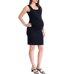 women's angel maternity double neckline maternity/nursing body-con dress, size 3x-large - black
