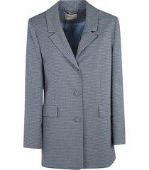 be blumarine oversized check blazer