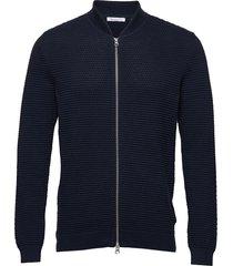 field cardigan sailor knit - gots/v gebreide trui cardigan blauw knowledge cotton apparel