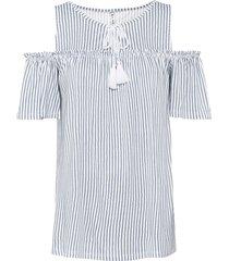 maglia con cut-out e laccetti (bianco) - rainbow
