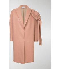 delpozo straight coat with bow
