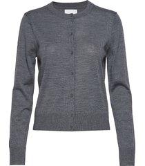 kleo cardigan 11265 stickad tröja cardigan grå samsøe samsøe