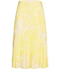 2nd jen sorbet knälång kjol gul 2ndday