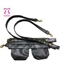 leather pocket belt waist pouch bag