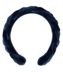 tiara trançada evelyne - azul