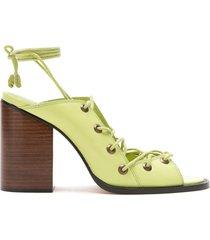 nk tie strappy sandals - green