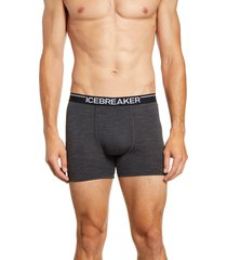 men's icebreaker anatomica merino wool blend boxer briefs, size medium - grey
