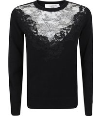 valentino lace embroidery sweater
