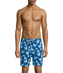 butterfly-print swim shorts