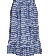 sc-golly knälång kjol blå soyaconcept