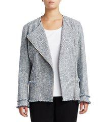 lafayette 148 new york women's plus owen wide-lapel jacket - luna multi - size 14w