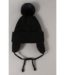 plush knitted ear warmer bubble hat