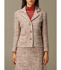 etro blazer etro tailored jacket in wool and bouclé cotton