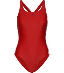 fit suit 3s baddräkt badkläder röd adidas performance