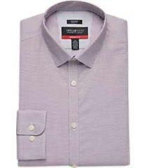 awearness kenneth cole awear-tech burgundy check slim fit dress shirt
