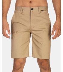 "hurley men's stretch chino 21"" shorts"