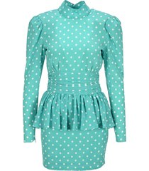 alessandra rich polka-dot dress