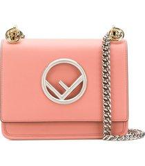 fendi bolsa tiracolo kan i f - rosa