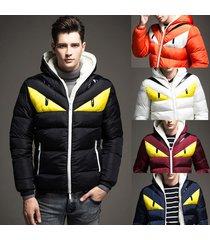 winter warm mens down coat thick parkas hooded jacket windbreaker outwear hoodie